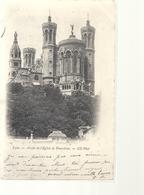 LYON . ABSIDE DE L'EGLISE DE FOURVIERE + HIST . TIMBRE DECOLLE AU VERSO . CARTE INTACTE . OBLIT DU 5-12-1901 . 2 SCANES - Lyon