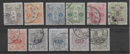 JAPON - 1913 - YT 117/127 OBLITERES - SANS FILIGRANE - COTE = 110 EUR. - Oblitérés