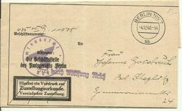 1940  Gerichtsbrief Nach Berlin Steglitz  Frei Durch Ablösung Reich - Covers & Documents