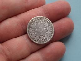 1875 D - 1 MARK ( KM 7 ) Uncleaned ! - 1 Mark
