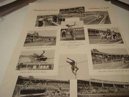 AFFICHE PHOTO  AFFICHE PHOTO  CHAMPIONNATS DE FRANCE ATHLETISME A LYON 1943 - Athletics