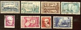 SUPERBE ANNEE 1935 YT Du N°299 Au N°307 Incomplète Et Oblitéré Cote + 16 Euro - ....-1939