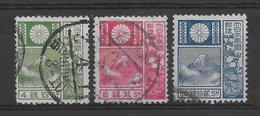 JAPON - 1922 - YT 170/172 OBLITERES -  COTE = 30 EUR. - Oblitérés