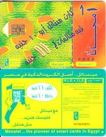 EGYPT - Children Painting/Sun, Menatel Telecard 10 L.E. + 1 L.E., CN : 0070, Chip GEM3.3, Used - Egypt