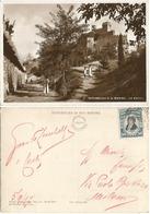 S. Marino La Rocca #9 - Moved B/w PPC 7sep1937 - M. Delfico C.10 Isolato X Milano - Saint-Marin