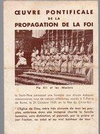 Calendrier 1941 OEUVRE PONTIFICALE DE LA PROPAGATION DE LA FOI (PPP14054) - Calendriers