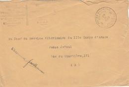 PMB 9 Vers Service Vétérinaire Du IIIème Corps D'armée - Covers