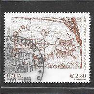 Italia 2009  Arte Rupestre Della Val Camonica  Valore Usato 2,80 Euro - 6. 1946-.. Repubblica
