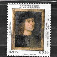 """Italia 2008  Bernardino Di Betto Detto Il """"Pinturicchio""""  Valore Usato (0.60 Euro) - 6. 1946-.. Repubblica"""