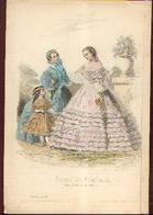 Lot De 30 Gravures De Mode (circa 1865/66) - Habits & Linge D'époque