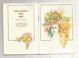 Calendrier , Agenda 1980 , Salon De Coiffure DANY , 49 , ALLONNES,18 Pages, 4 Scans , Frais Fr 1.75 E - Calendriers
