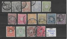 JAPON - 1899 - YT 93/107 OBLITERES -   COTE = 32 EUR. - Gebraucht