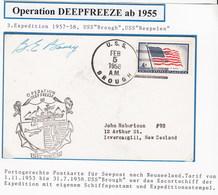 ANTARCTIC,USA,Oper.Deep Freeze1958, Signature, Cachet !! 12.9-39 - Briefmarken