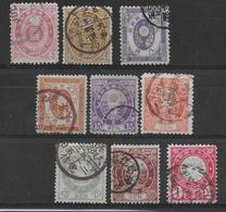 JAPON - 1888 - YT 78/86 OBLITERES -   COTE = 36 EUR. - Usati
