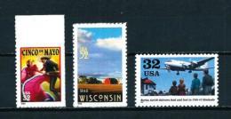 Estados Unidos  Nº Yvert  2720-2738-2748  En Nuevo - Estados Unidos