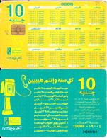 EGYPT - Calendar 2006(with Half Brown Arrow), Menatel Telecard 10 L.E., Chip Incard 4, CN : 342(small), Used - Egypt
