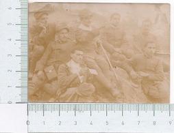 Fotografia Antica ~ Militari In Gruppo ~ Trincea ~ 1917 ~ WWI ~ Grande Guerra - Guerra Mondiale ~ Militare ~ Militaria - Fotografia