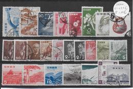 JAPON  - PETIT LOT OBLITERES - COTE = 43.5 EUR. - Japon