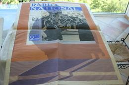 PROJET D'AFFICHE  POUR LE JOURNAL RADIO NATIONAL  EN GOUACHE - 1939-45