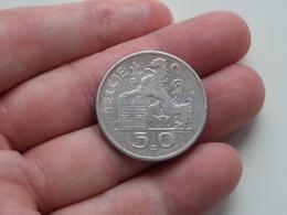 1950 - 50 Frank België ( KM 137 ) Uncleaned ! - 05. 50 Francs
