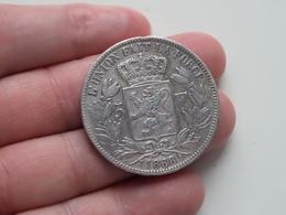 1868 - 5 Franc Belgique ( KM 24 ) Uncleaned ! - 1865-1909: Leopold II