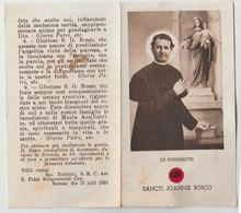 SANTINO - IMAGE PIEUSE DON BOSCO SANCTI JOANNIS BOSCO EX INDUMENTIS CON RELIQUIA - Santini