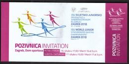 Croatia Zagreb 2018 / ISU World Junior Synchronized Skating Championships / Invitation Ticket - Skating (Figure)