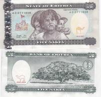 Eritrea - 5 Nakfa 1997 UNC Lemberg-Zp - Erythrée