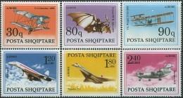 ALBANIA 1991, HISTORY Of AIRCRAFT BUILDING, COMPLETE, MNH SET, GOOD QUALITY, *** - Albania