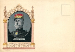 BELLE CARTE TISSEE SUR SOIE -  BRODEE - GENERAL FOCH - Weltkrieg 1914-18