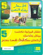 EGYPT - Menatel Cardphone, Menatel Telecard 5 L.E., Chip Incard 4, CN : 466, Used - Egypt