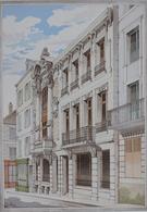 PLANCE ARCHITECTURE L'HABITATION PRATIQUE 38.5X31.5 CM - HOTEL DE LA GAZETTE DE L'OISE A COMPIEGNE - 2 SCANS - Architecture