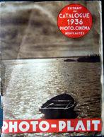 PHOTOGRAPHIE CATALOGUE PHOTO PLAIT 1936 D'APPAREILS PHOTOS SOUFFLETS ET CAMERA - France
