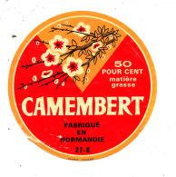S  370 -ETIQUETTE DE FROMAGE- CAMEMBERT  FAB EN NORMANDIE  27 B. (EURE) - Kaas