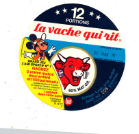 S  387  -ETIQUETTE DE FROMAGE- LA VACHE QUI RIT  12 PORTIONS  GRAND JEU L'AMI SPORTIF - Cheese