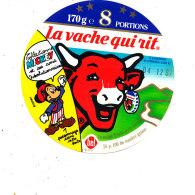 S  389  -ETIQUETTE DE FROMAGE- LA VACHE QUI RIT  8 PORTIONS    MICKEY ET SES AMIS - Fromage