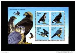 IRELAND/EIRE - 2010  BIRDS OF PREY  MS   MINT NH - Blocchi & Foglietti