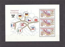 Czechoslovakia Tschechoslowakei 1984 MNH ** Mi 2788 Bl 61 Sc 2533a Sheet. Contruction, Aufbauerfolge. Erdgasleitung. - Tchécoslovaquie