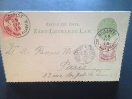 Carte Postale Budapest 16/04/1889 - Hongrie