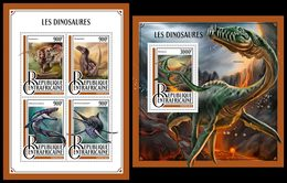 CENTRAL AFRICA 2016 - Dinosaurs - YT 4745-8 + BF1057; CV=40 € - Prehistorisch