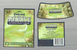 "- **3 X Etiket **-  """"  Siebrand- MARISE      """"-witte  Druiven & Limoen    - - Fruits & Vegetables"