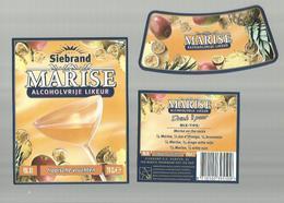 """- **3 X Etiket **-  """"""""  Siebrand- MARISE      """"""""-tropische  Vruchten    - - Fruits & Vegetables"""