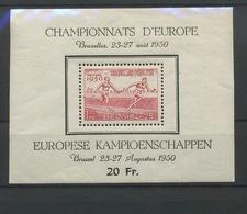 BF 29.  Sport Du  Heyzel.    Petit Aminci.  Cote 50,- Comme * - Blocks & Kleinbögen 1924-1960