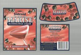 "- **3 X Etiket **-  """"  Siebrand- MARISE      """"-frambozen & Kersen     - - Fruits & Vegetables"