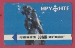 FINLANDE--TELECARTE Magnetique--30 MK--PUNELUKORTTI - Finland