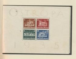 1935. Bloc Ostropa.  Sans Gomme, Sans Défaut - Blocks & Sheetlets