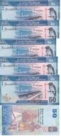 Sri Lanka - 5 Pcs X 50 Rupees 2016 UNC Ukr-OP - Sri Lanka