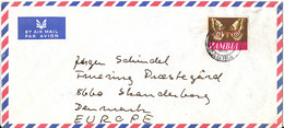 Zambia Air Mail Cover Sent To Denmark 13-6-1971 Single Franked BUTTERFLY - Zambia (1965-...)