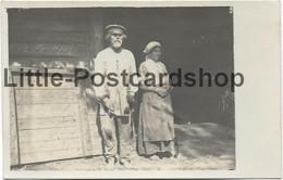 Foto Altes Russisches Ehepaar Von Tschukontowtschisna Panje Bauer Und Frau Bei Stolowitschi Weissrussland Russland 1916 - Guerra 1914-18