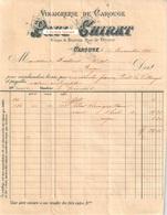 Document Du 29/11/1895 PAUL CHIRAT Vinaigrerie De Carouge Genève Suisse - Switzerland